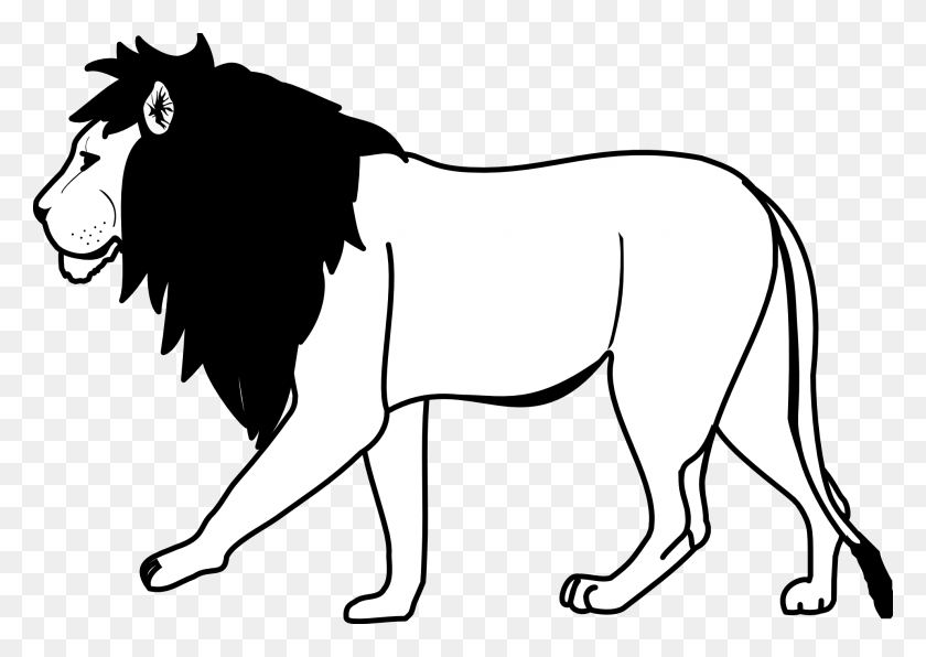 Lion Black And White Clip Art Black And White Black Lion Clipart - Pets Clipart Black And White