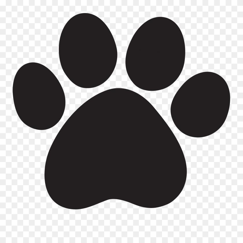 Lion Cougar Dog Cat Clip Art - Dog Footprint Clipart