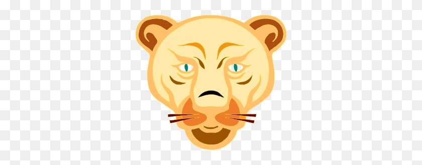 Lion Face Cartoon Clip Art Free Vector - Lion Mascot Clipart
