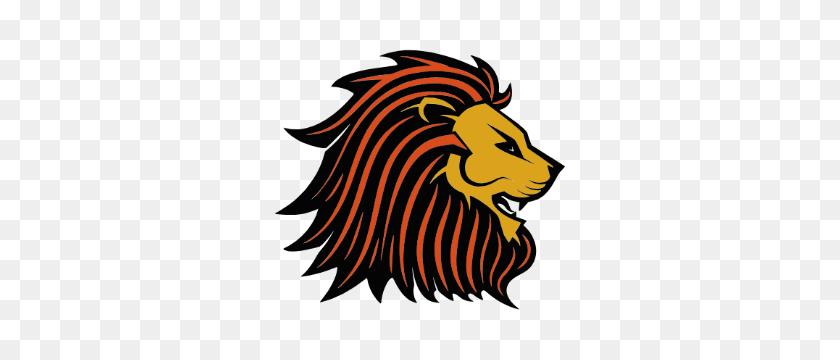 Lion Face Mascot Free Open Vectors - Lion Mascot Clipart