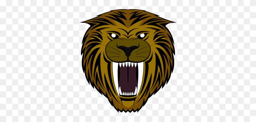 318x340 Lion Taming Tiger Animal Training Circus - Saber Tooth Tiger Clipart