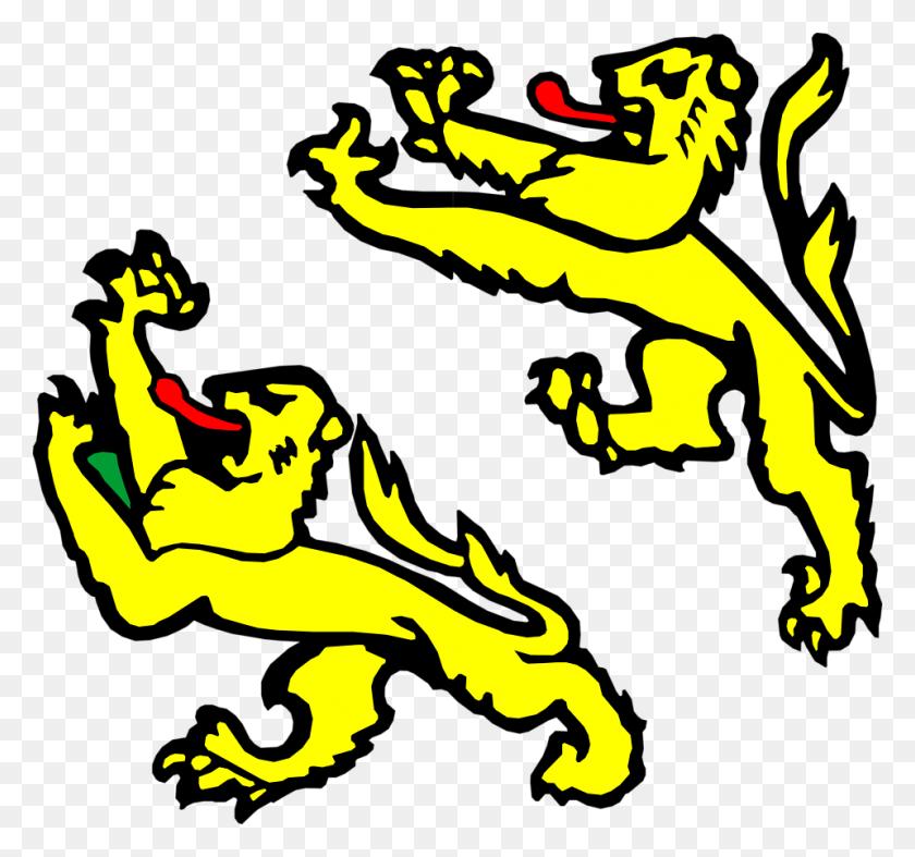 Lions Free Stock Photo Illustration Of Medieval Lion Designs - Medieval Banner PNG