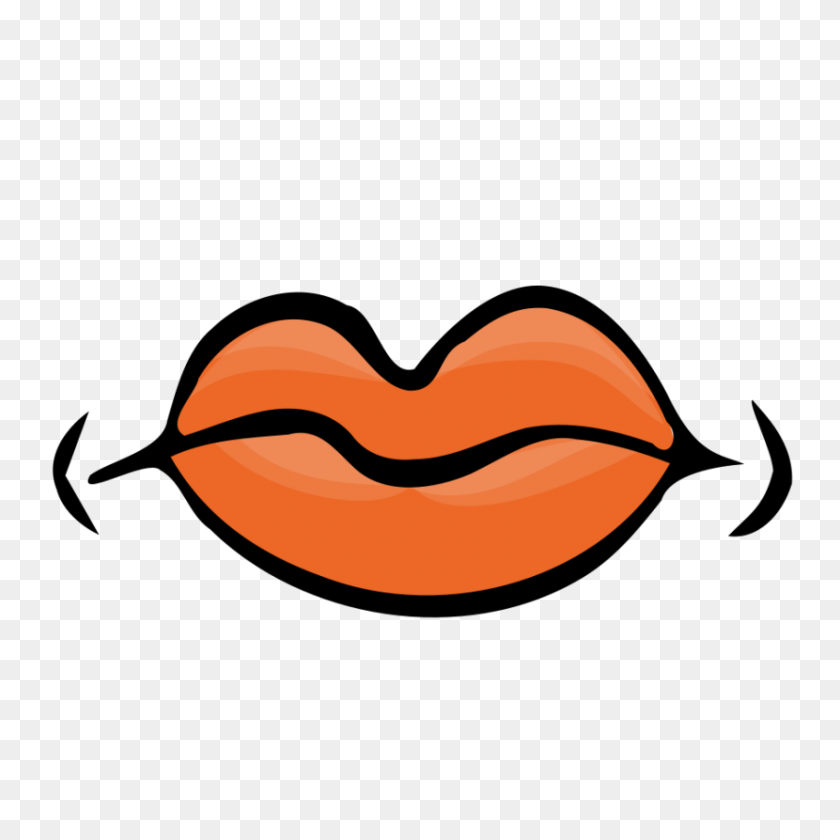 Lips Clipart Male Lip - Biting Lip Clipart