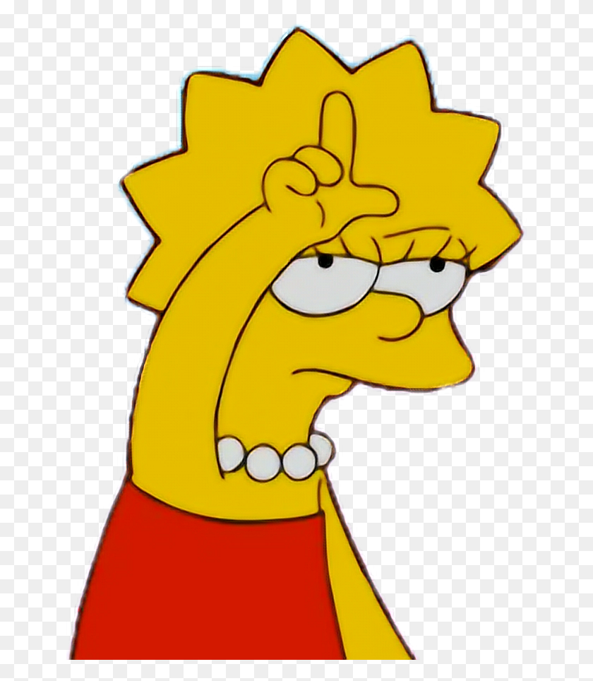 652x904 Lisasimpson Loser Simpson Simpsons Aesthetic Tumblrfree - Loser Clipart