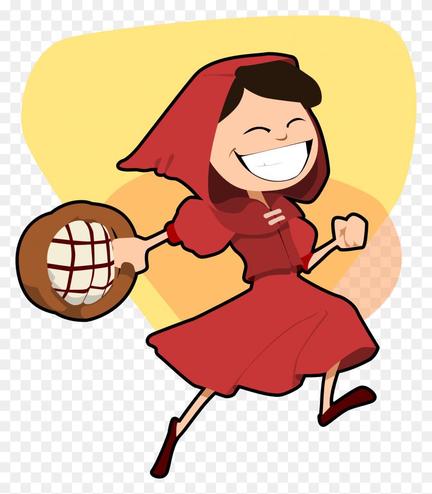 Little Red Riding Hood Clip Art Look At Little Red Riding Hood - Kids Soccer Clipart