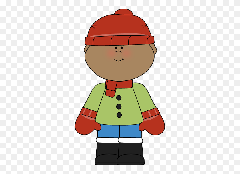 Little Winter Boy Invierno Clip Art, Winter Y Boy - Weather Helper Clipart
