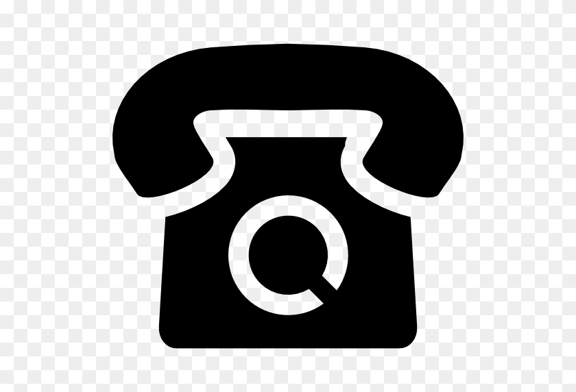 512x512 Llamada De Vintage - Icono Telefono PNG