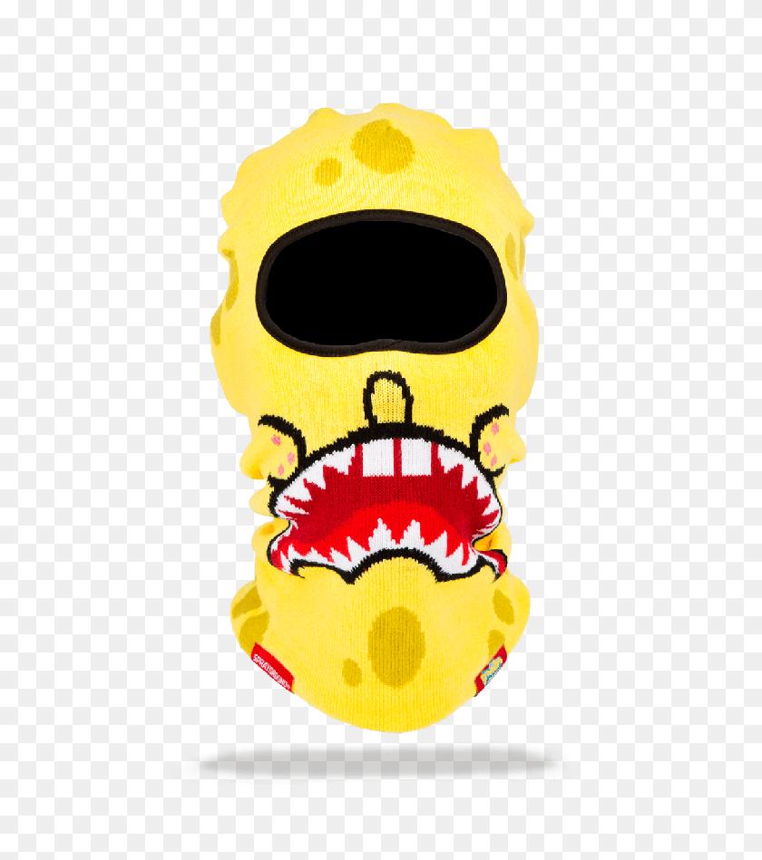 Lobo Negro Sprayground Spongebob Shark Mouth Ski Mask - Ski Mask PNG