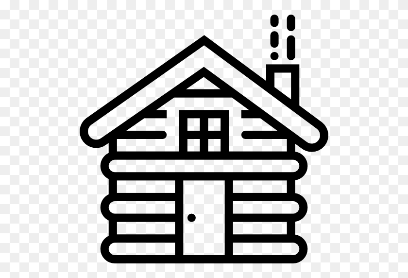 Log Cabin Clip Art Black White - Cabin Clipart Black And White