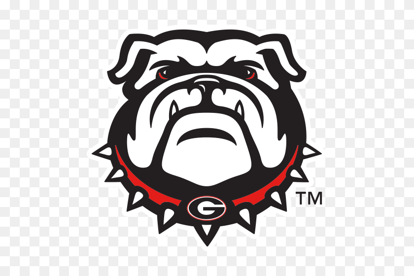 Logo University Of Georgia Bulldogs Bulldog Head - Bulldog PNG