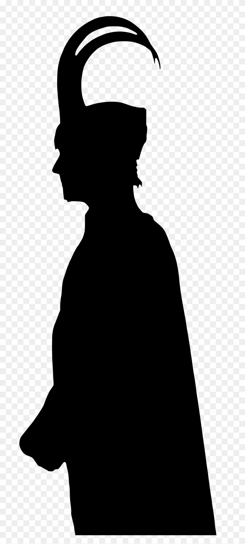 827x1910 Loki's Vectorized Silhouette - Loki Clip Art