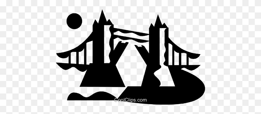 480x306 London Bridge Royalty Free Vector Clip Art Illustration - London Bridge Clipart