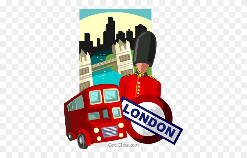 406x480 London Royalty Free Vector Clip Art Illustration - London Clipart