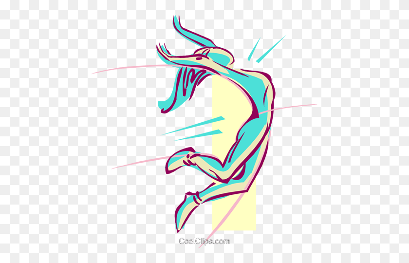 465x480 Long Jump Royalty Free Vector Clip Art Illustration - Long Jump Clipart