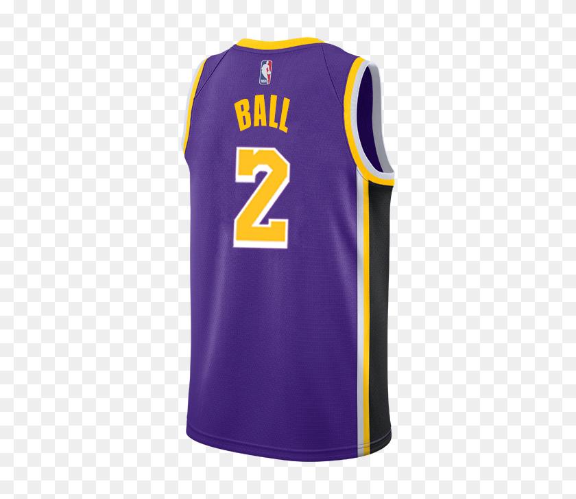 500x667 Los Angeles Lakers Lonzo Ball Statement Edition Swingman - Lonzo Ball PNG