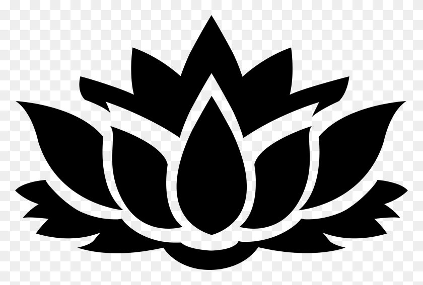 Lotus Flower Black And White Png Transparent Lotus Flower Black - Black Flower PNG