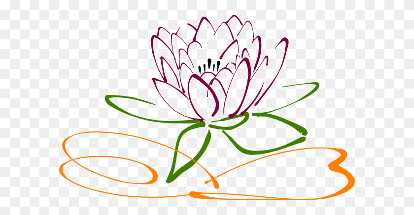 600x377 Lotus Flower Clip Art - Lotus Clipart