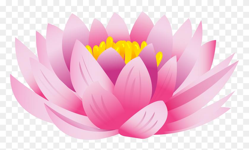 8000x4574 Lotus Flower Png Clip Art - Lotus Clipart