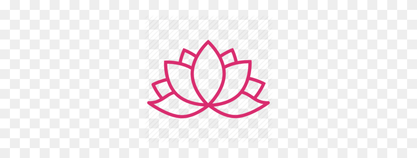 Lotus Flower Yoga Clipart - Lotus Flower Clipart