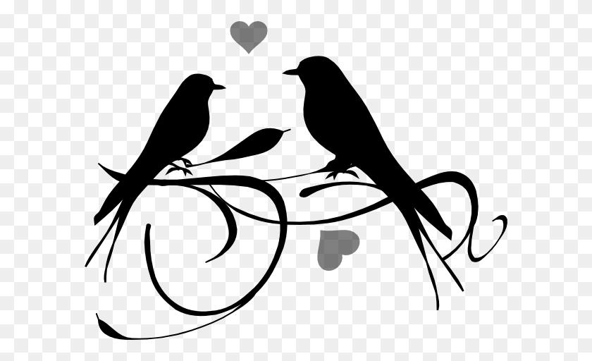 Love Birds Clip Art Black Love Birds Black Clip Art - Fish Skeleton Clipart