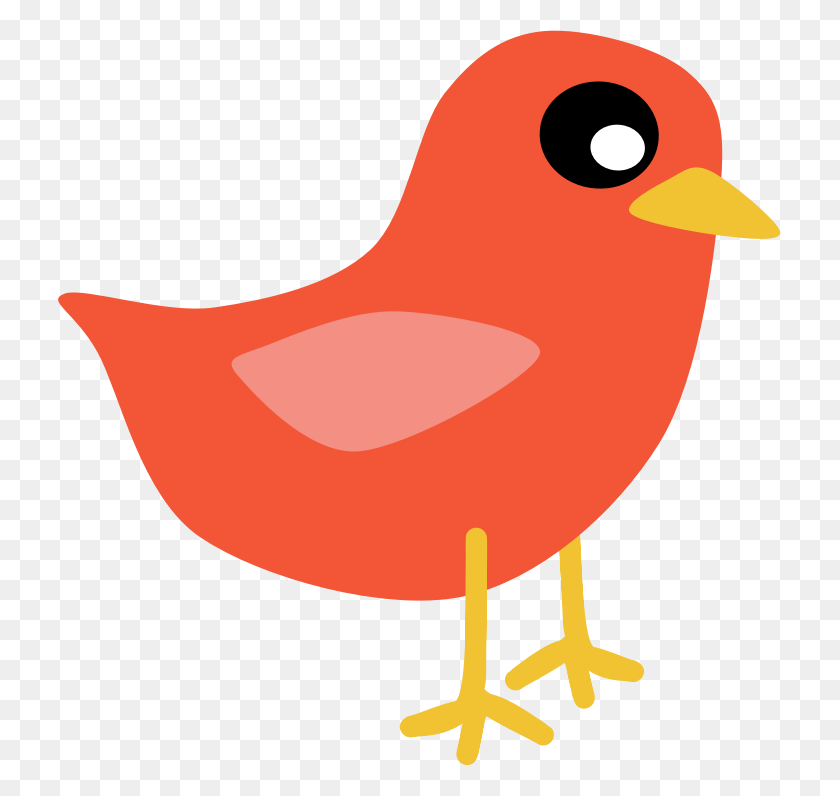 723x736 Love Birds Clipart Beautiful Bird - Cute Bird Clipart
