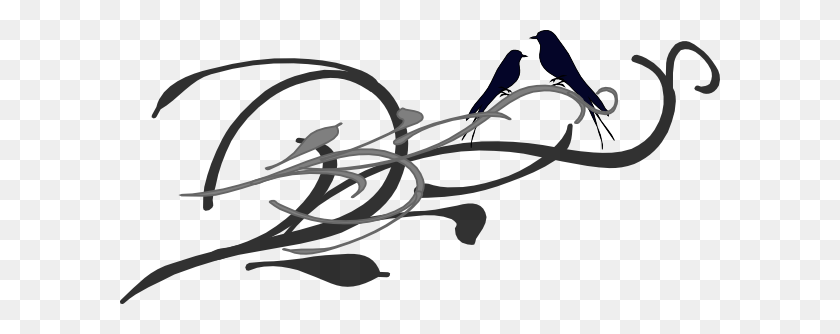 Love Birds Clipart Black And White - White Bird Clipart