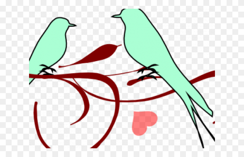 Love Birds Clipart Frame Png - Love Birds Clipart