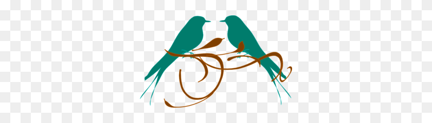 Love Birds On Branch Clip Art - Love Birds Clipart