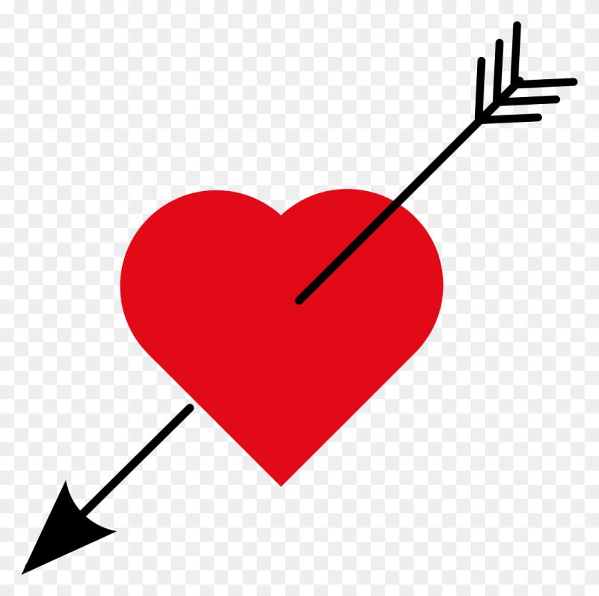 1029x1024 Love Heart With Arrow - Arrows With Hearts Clipart