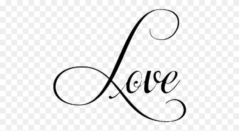 Love Lettering Word Cursive - Cursive Clipart