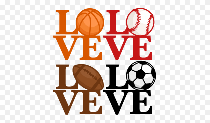 Love Sports Titles Scrapbook Cute Clipart Clip Art - Sports Team Clipart