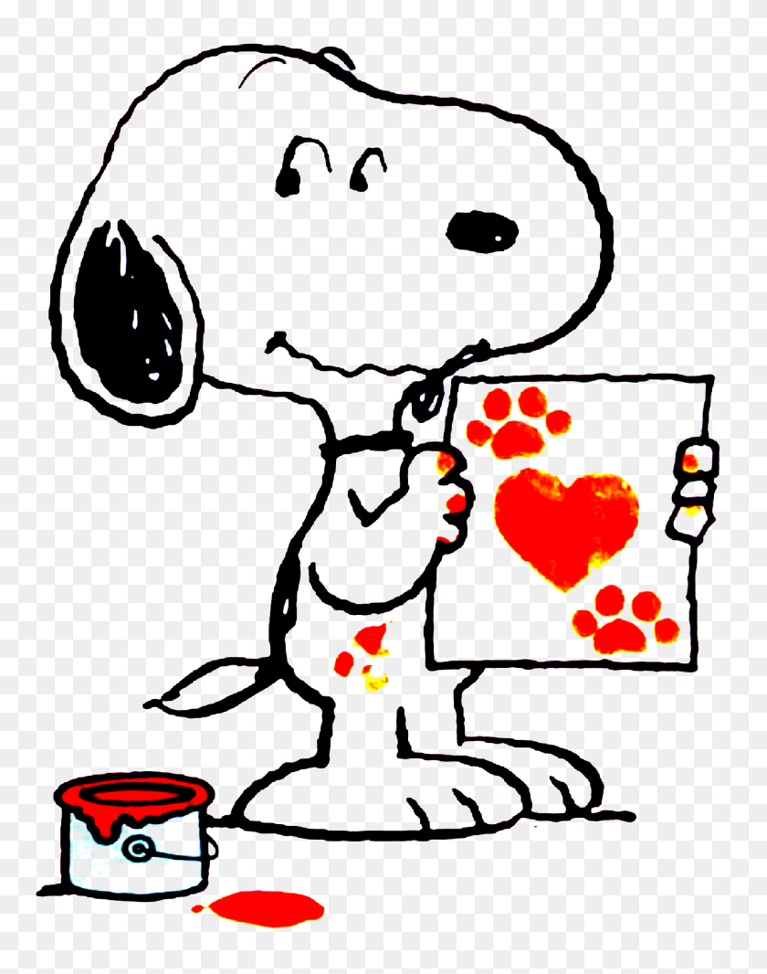 Love,kisses, Hugs Snoopy - Snoopy Birthday Clip Art