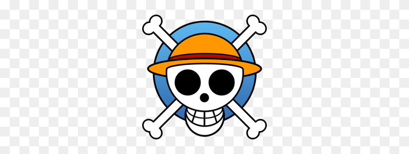 Luffys Flag Icon One Piece Manga Jolly Roger Iconset Crountch - Manga PNG