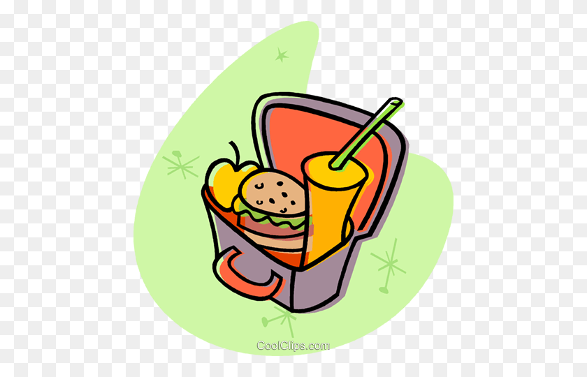 458x480 Lunch Box Clipart Sack Pencil And In Color Png - Sack Lunch Clipart