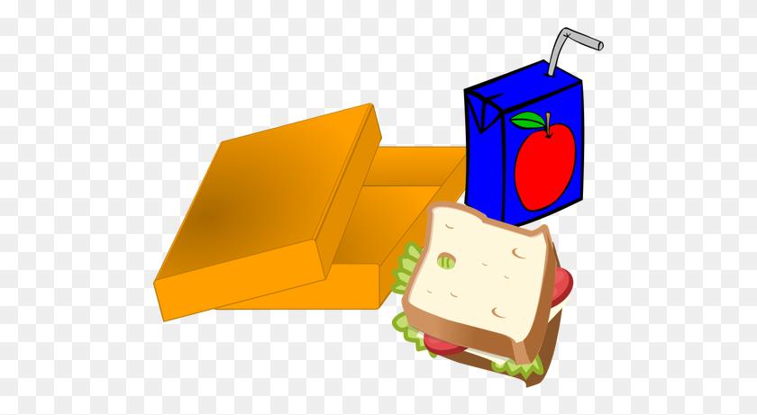 500x401 Lunch Box Clipart Sandwich Box - Lunch Clip Art