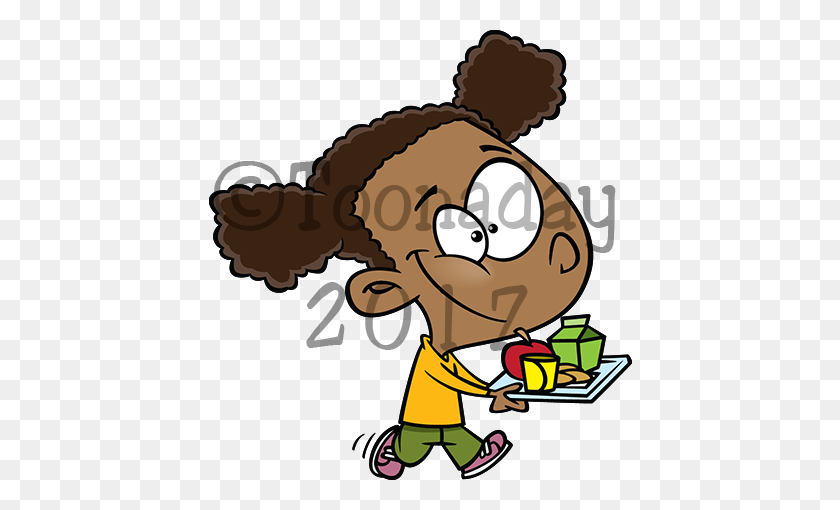 600x450 Lunchgirl - Lunch Tray Clipart