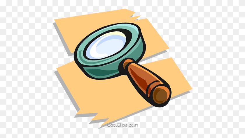480x415 Lupa Livre De Direitos Vetores Clip Art - Lupa Clipart