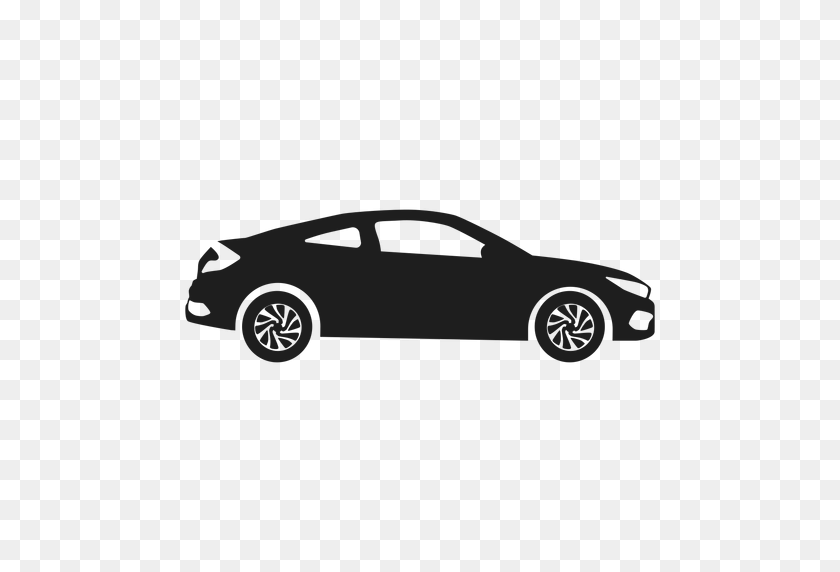 512x512 Luxury Car Side View Silhouette - Luxury Car PNG