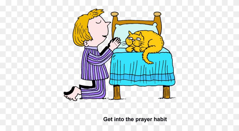 Kids Praying Illustration