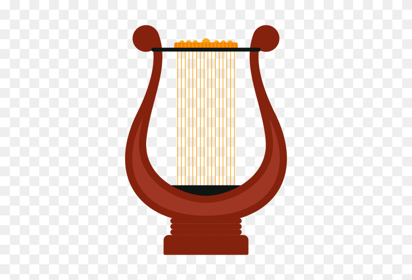 512x512 Lyre Musical Instrument Icon - Lyre Clipart