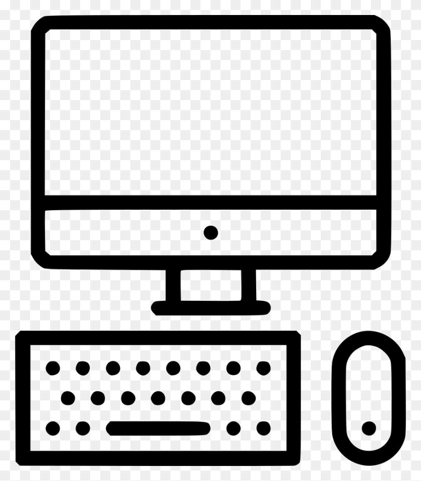 Mac Computer Device Display Desktop Screen Keyboard Mouse Png - Mac Desktop PNG