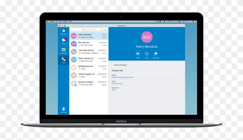 Mac Download The Starleaf App Starleaf - Mac Desktop PNG
