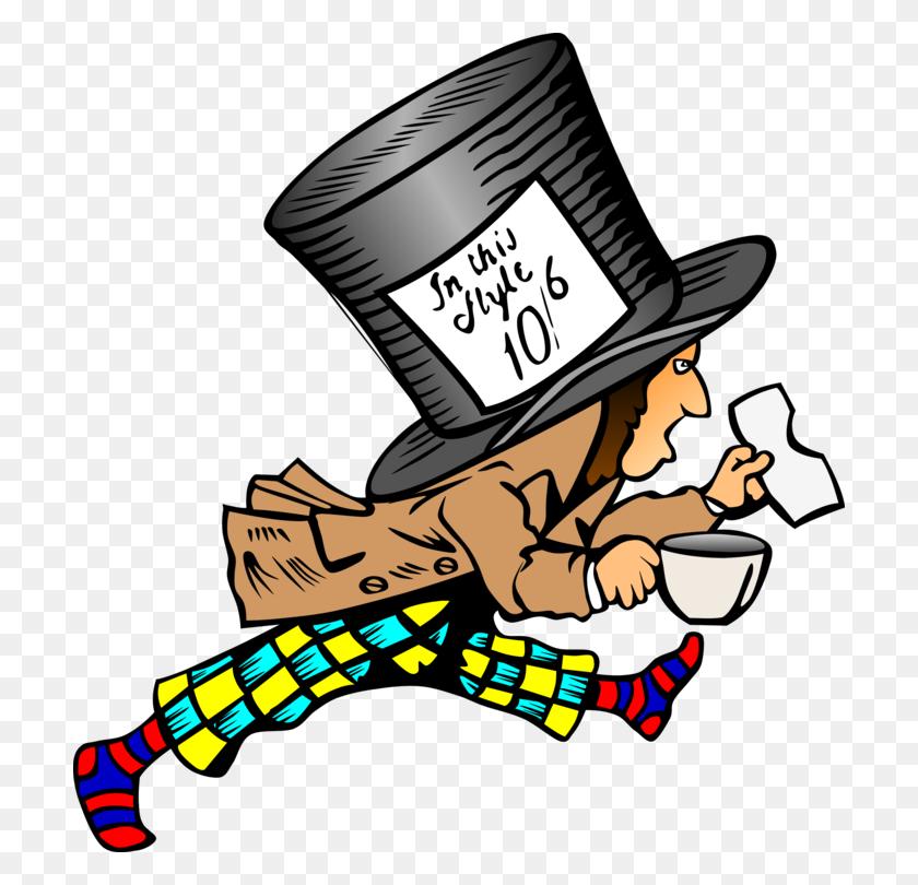 Mad Hatter Alice's Adventures In Wonderland March Hare Queen - Queen Of Hearts Clipart
