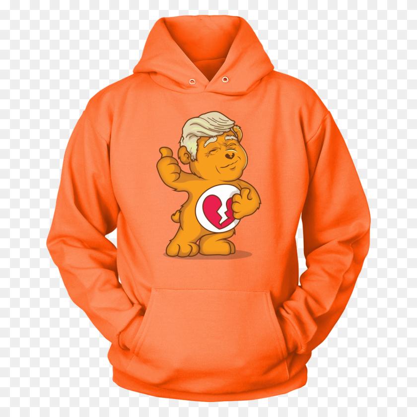 Maga Don't Care Bear W Trump Hair Funny Trump Political Humor Hoody - Trump Hair PNG