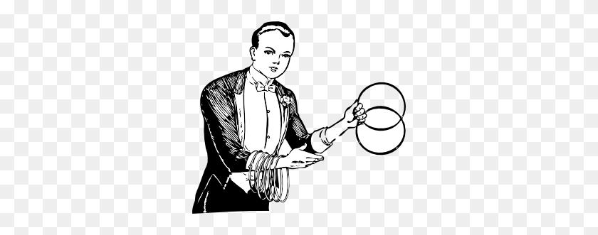 Magician Linking Rings Clip Art - Magician Clipart Free