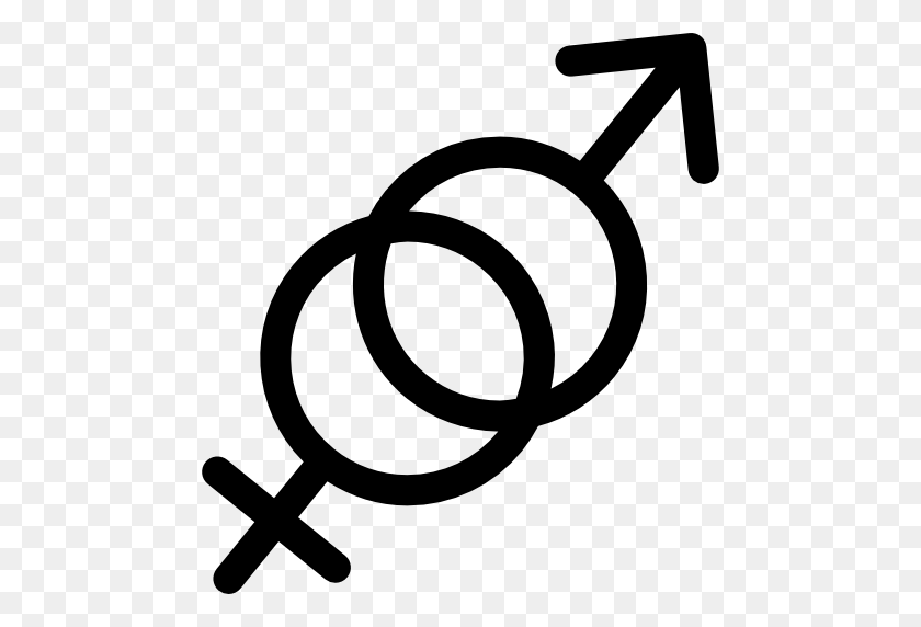 Male And Female Gender Symbols - Male Symbol PNG