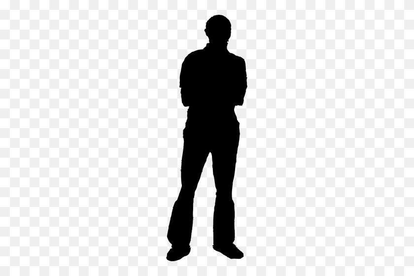 Male Dancer Silhouette Clip Art - Person Standing Clipart