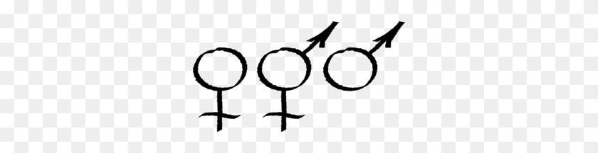 298x156 Male Female Symbols Clip Art - Male And Female Clipart