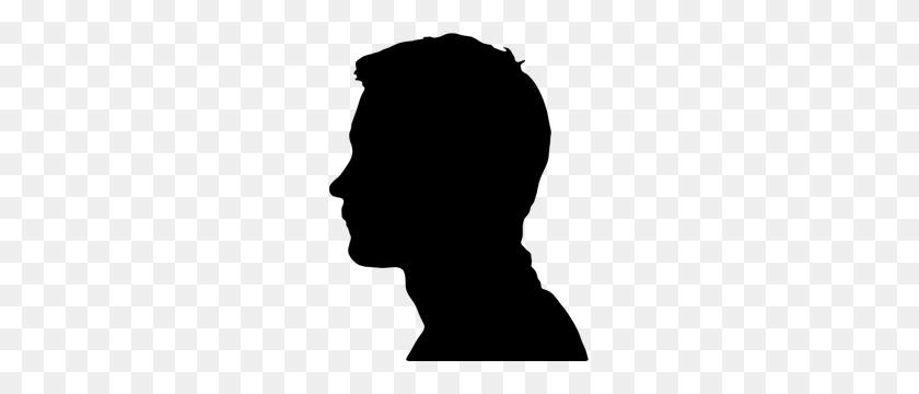 Male Head Silhouette Clip Art - Heads Up Clipart