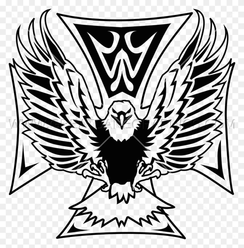 Maltese Cross Flying Eagle Production Ready Artwork For T Shirt - Maltese Cross PNG